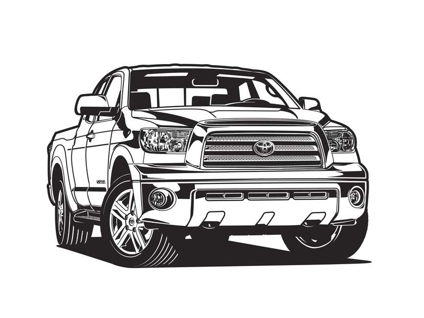 tundra coloring pages - 2012 toyota tundra illustration ich liebe kunst