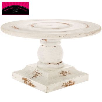 White Washed Wood Cake Stand Wood Cake Stand Wooden Cake Stands Wooden Pedestal Cake Stand
