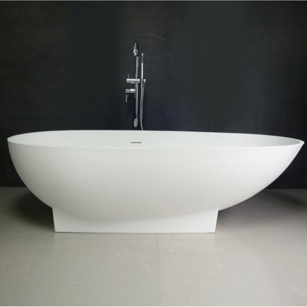 Duvalli Cocoon Stone Resin Solid Surface Freestanding Bath