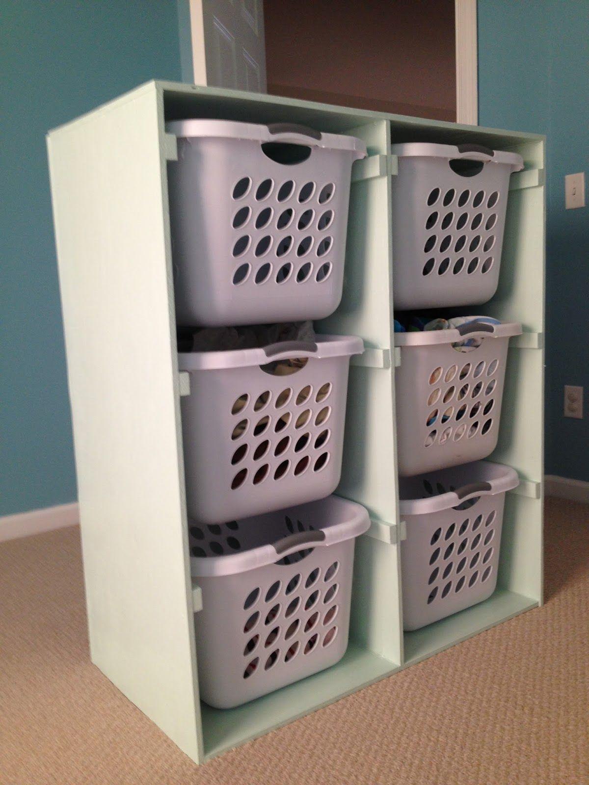 Build Shelves For Your Laundry Baskets Diy Laundry Basket
