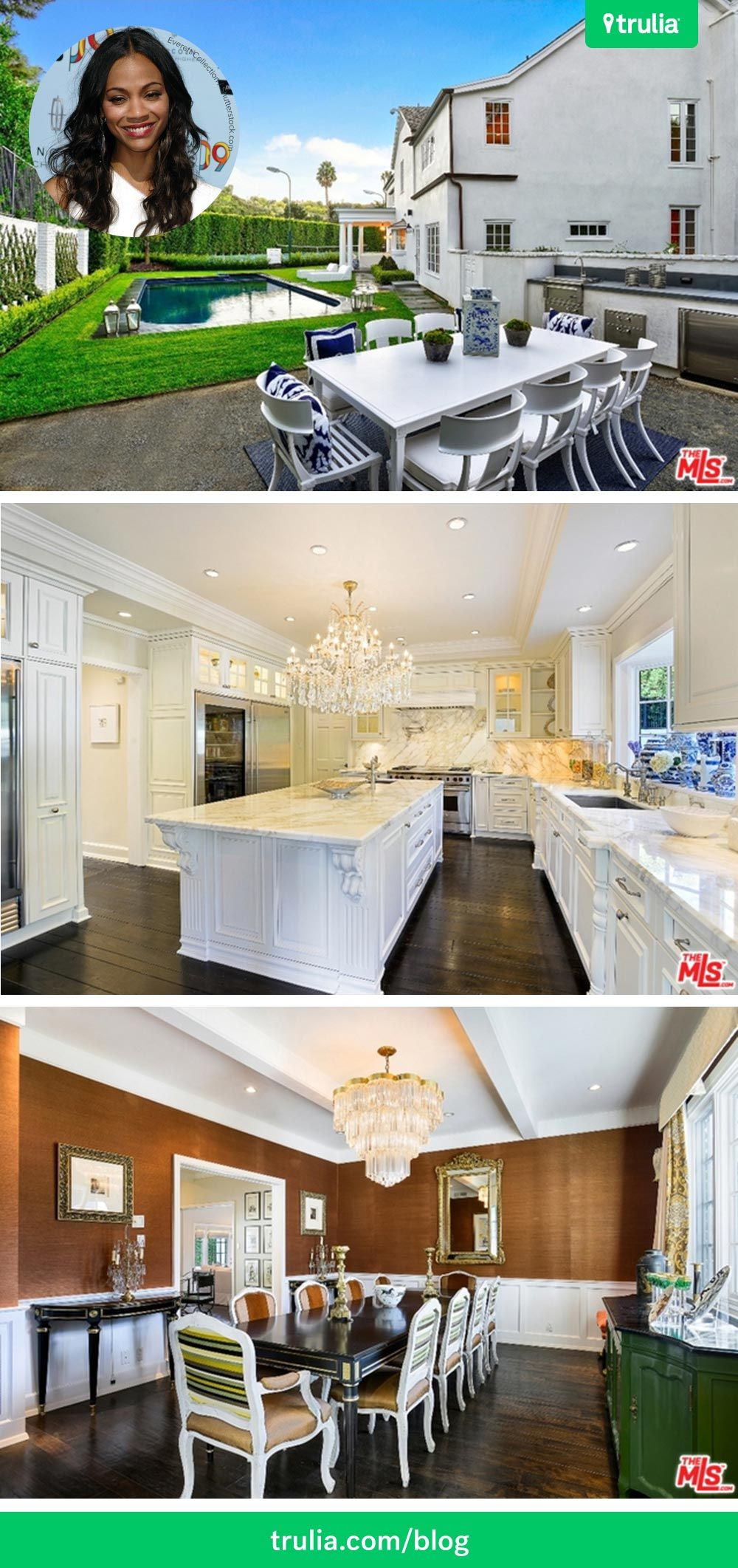 Want To See The New House Zoe Saldana Bought In Beverly Hills