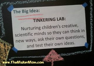 Chicago Children's Museum Tinkering Lab Exhibit Big Idea