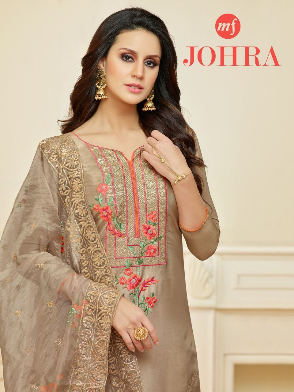 e26fe03f4a MF Johra Pure Upada Silk with embroidery Work Dress Material Wholesaler  Surat