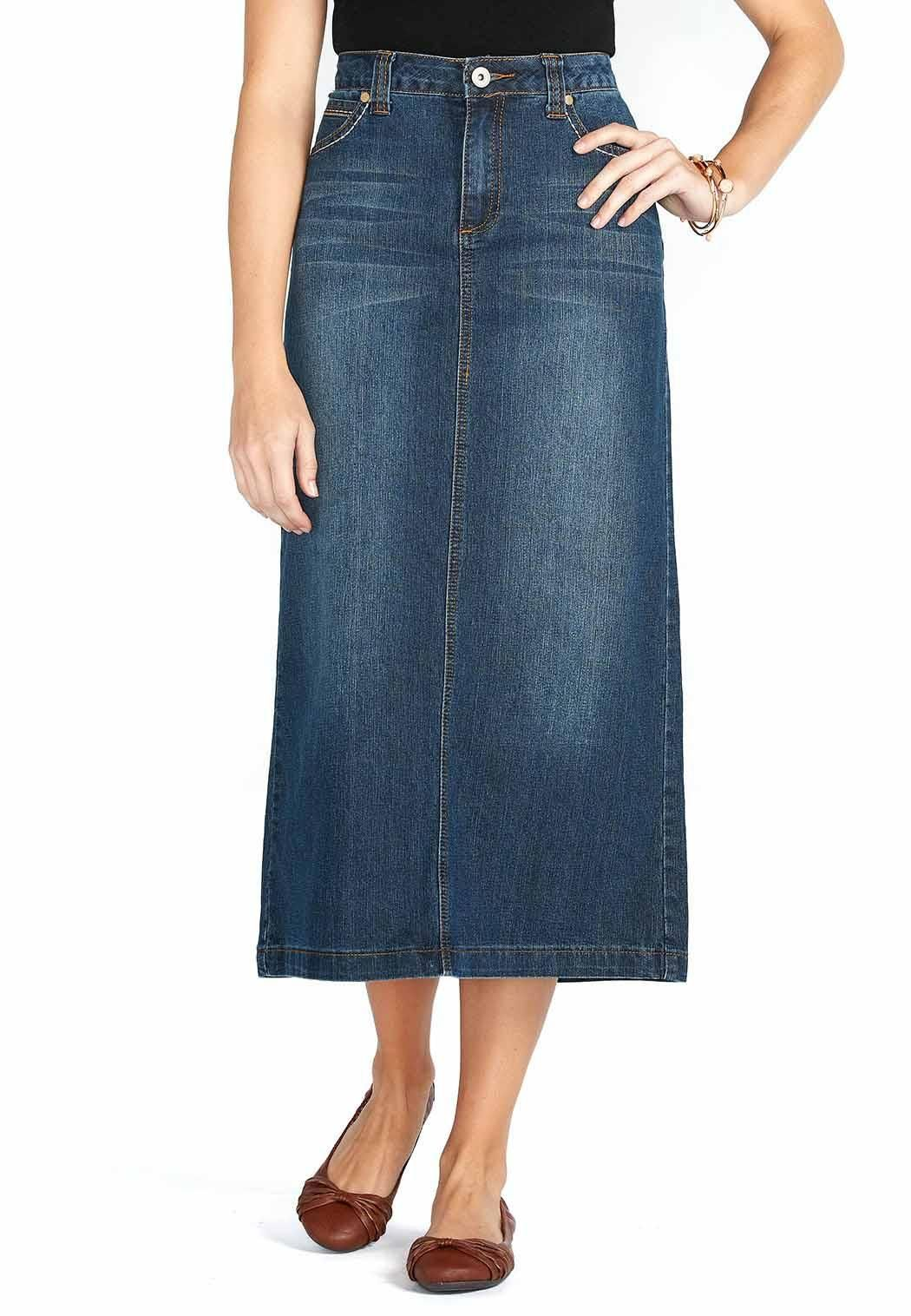 3e414c8d8 Long Dark Denim Skirt Skirts Cato Fashions | Perfectly Styled in ...