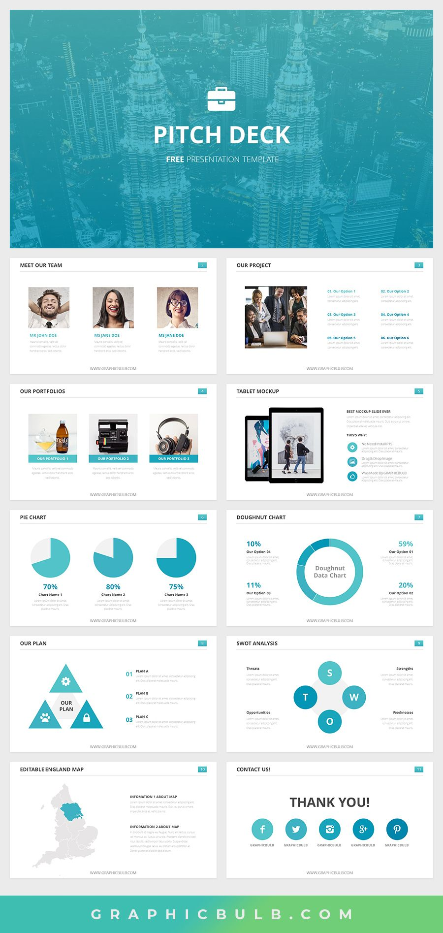 Best Free Pitch Deck Powerpoint Templates In 2020 Marketing Presentation Pitch Presentation Powerpoint Design Templates
