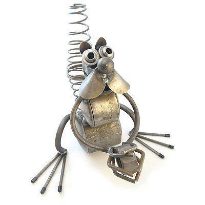 Nutty Squirrel - Recycled Metal Garden Sculpture by Yardbirds