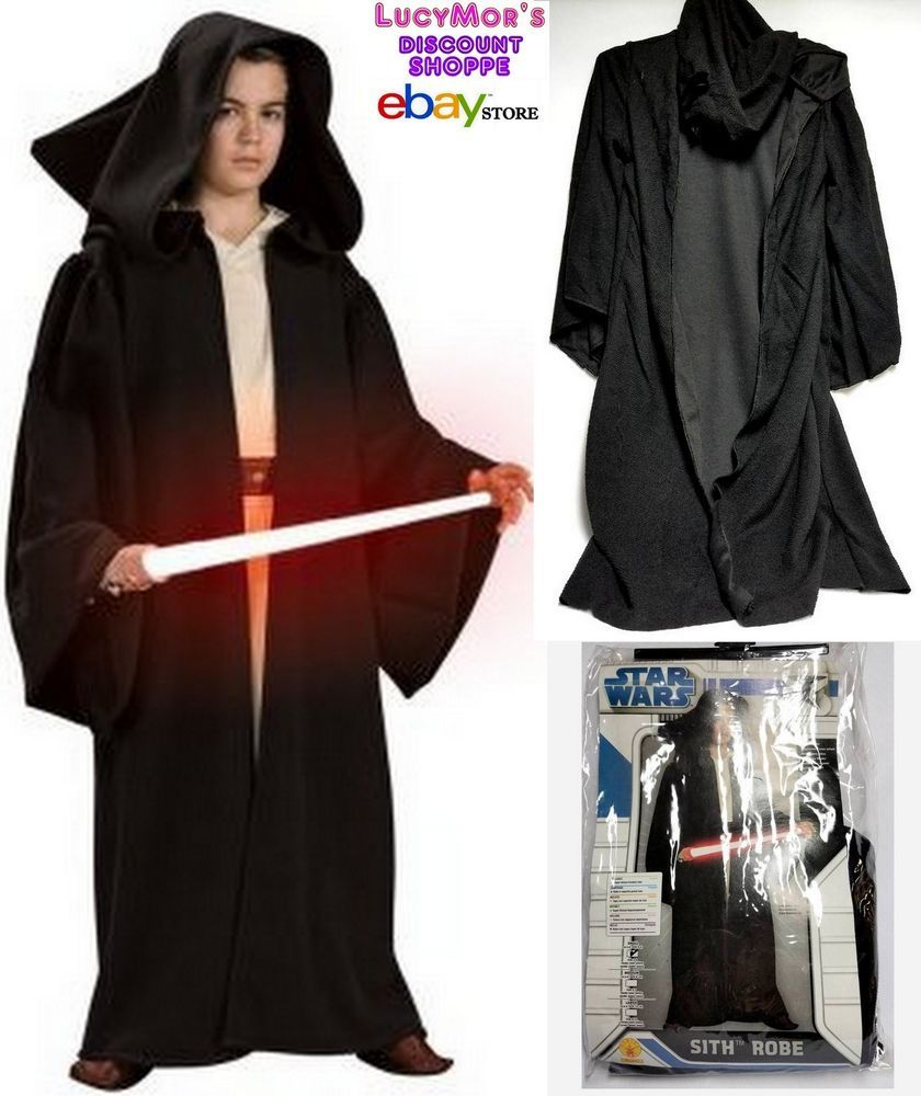 Rubie s STARWARS Child Deluxe Hooded SITH Robe Halloween Costume (4-6) NWT   62995009f