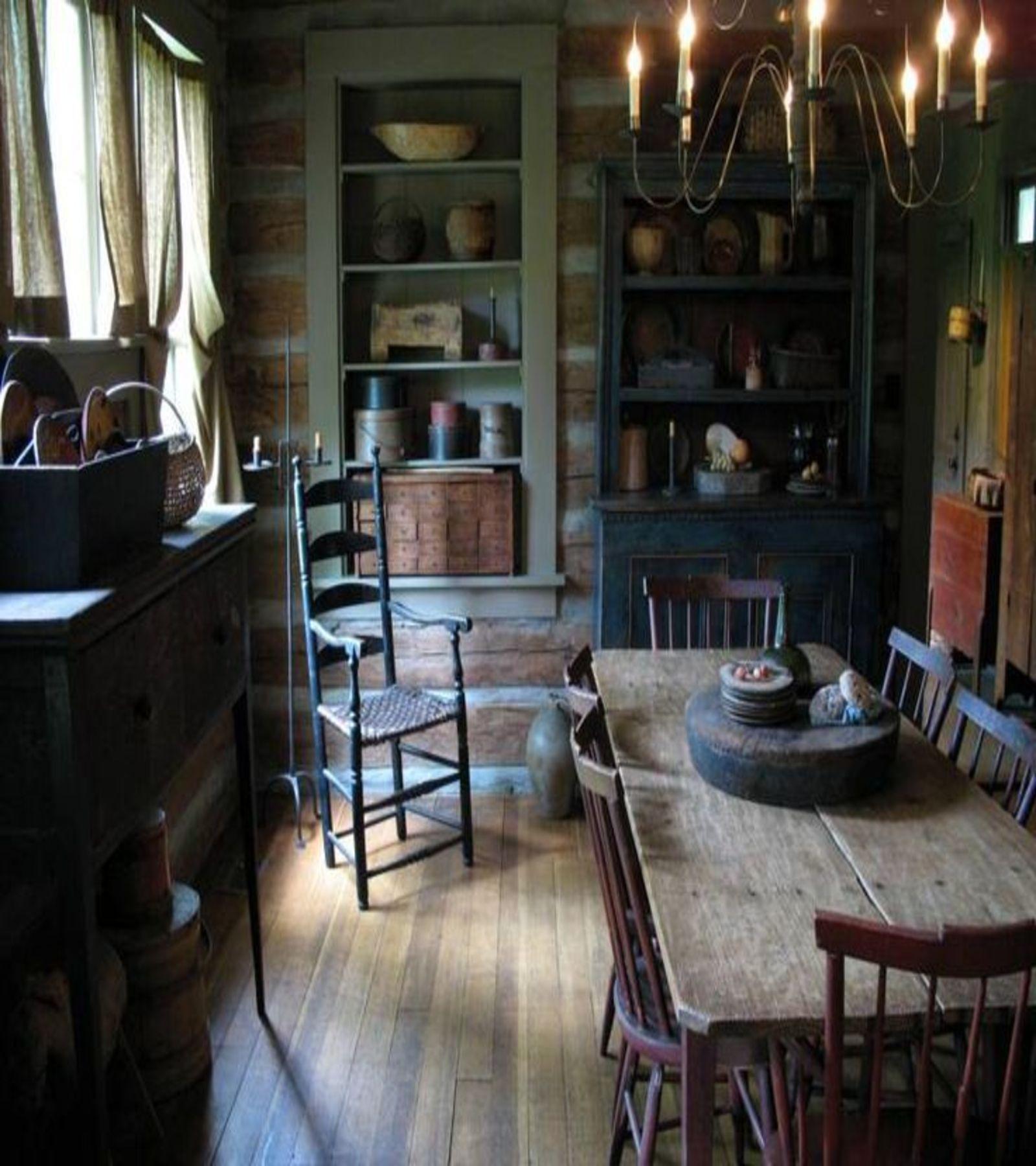 Primitive Dining Room Furniture: Primitive Dining Room Rustic, Farmhouse, Primitive