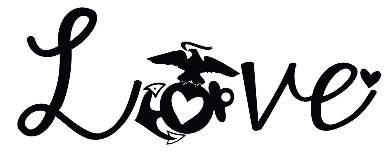 Download marine corps window decal love ega usmc eagle by ...