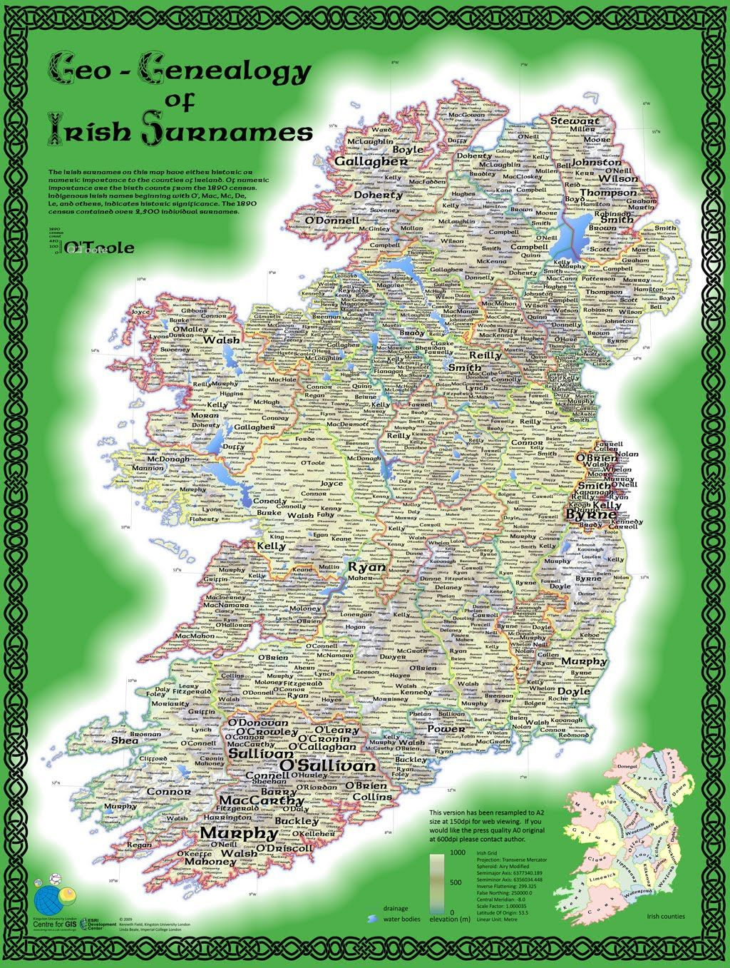 Ancestral Map Of Ireland YOUR ANCESTRAL FAMILY BLOG - Interactive us surnames map