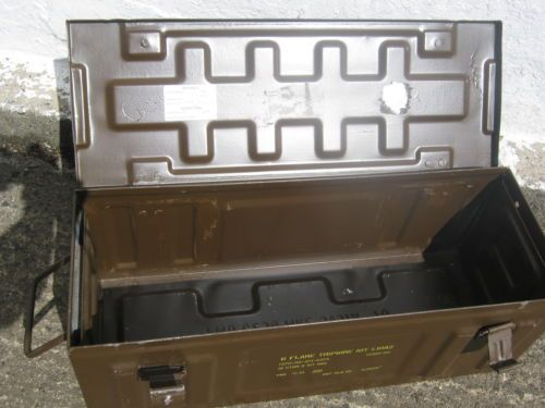 British-Army-Surplus-Large-Brown-Metal-Ammo-Box   For Jeremy   Army