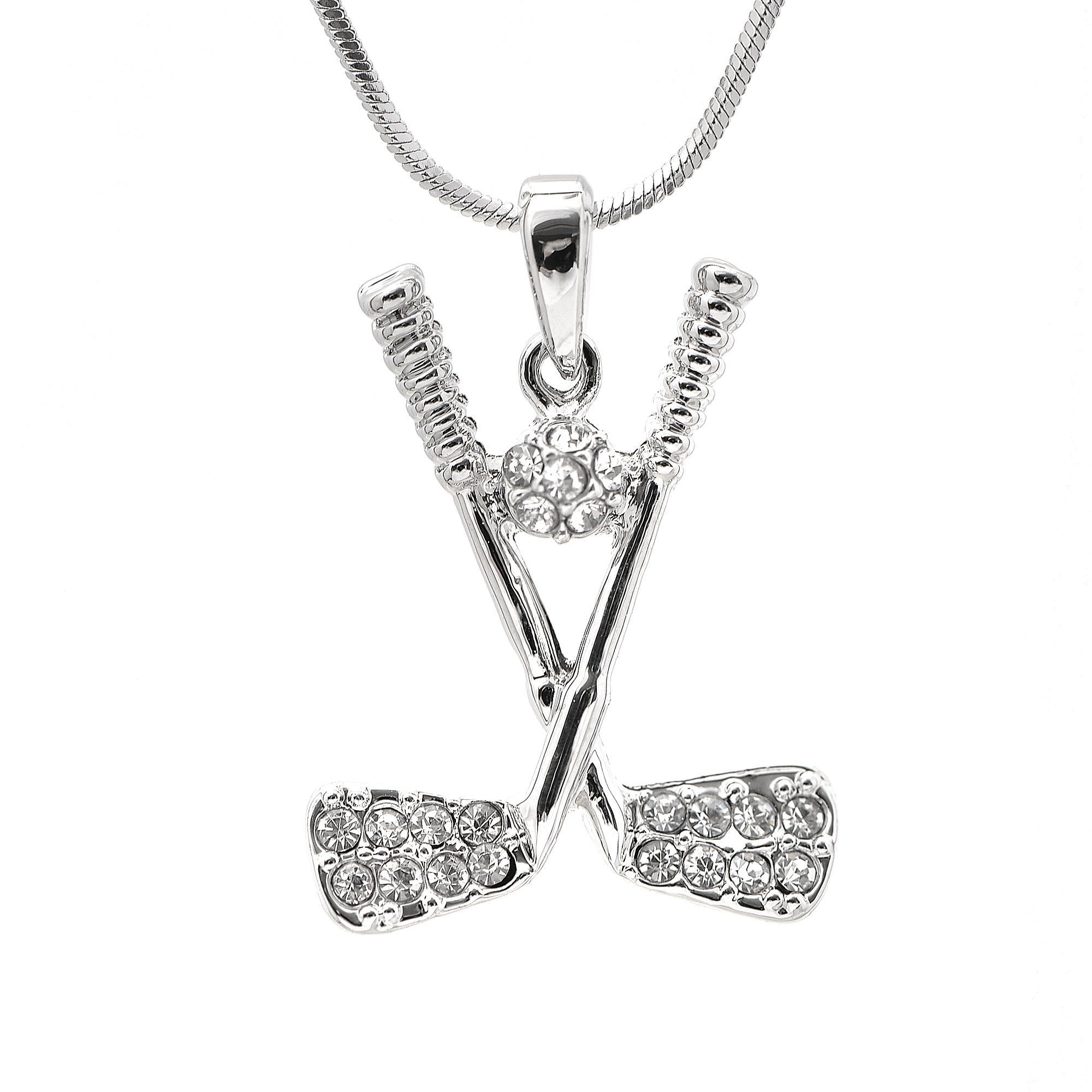Crystal golf club with ball necklace golf swing tips pinterest crystal golf club with ball necklace aloadofball Choice Image