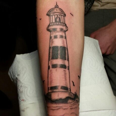 Tattoo leuchtturm lighthouse tattoos tintenfieber - Tattoo leuchtturm ...