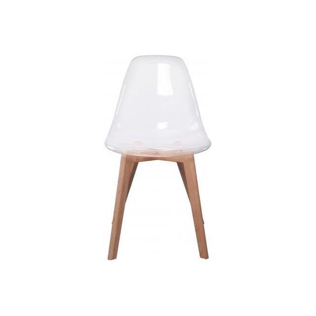 Chaise Scandinave Transparente Fjord Declikdeco Eames Chair Chair Decor