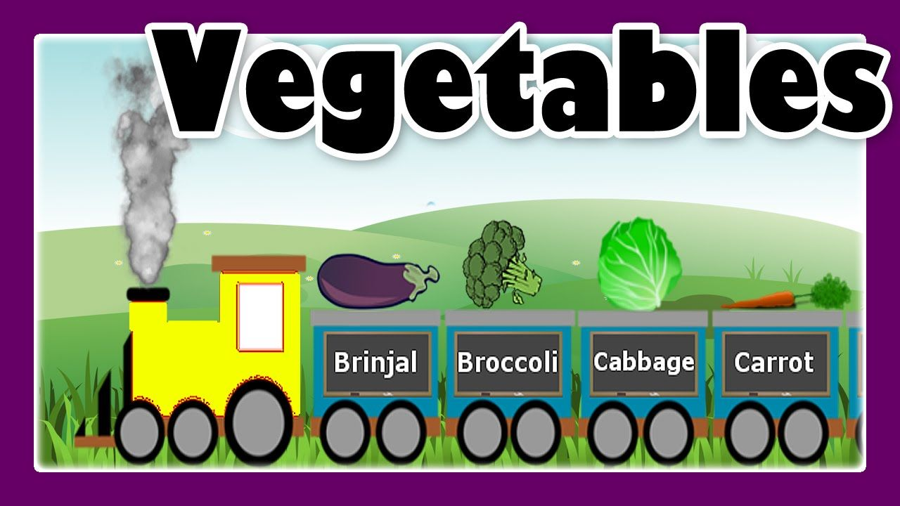Vegetable Song With Vegetable Train For Children Preschool Learning By Jeannetchannel Preschool Learning Kids Learning Videos Preschool Kids
