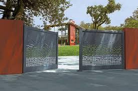 Resultat De Recherche D Images Pour Tole Perforee Decorative Leroy Merlin House Gate Design Gate Design Outdoor Gate