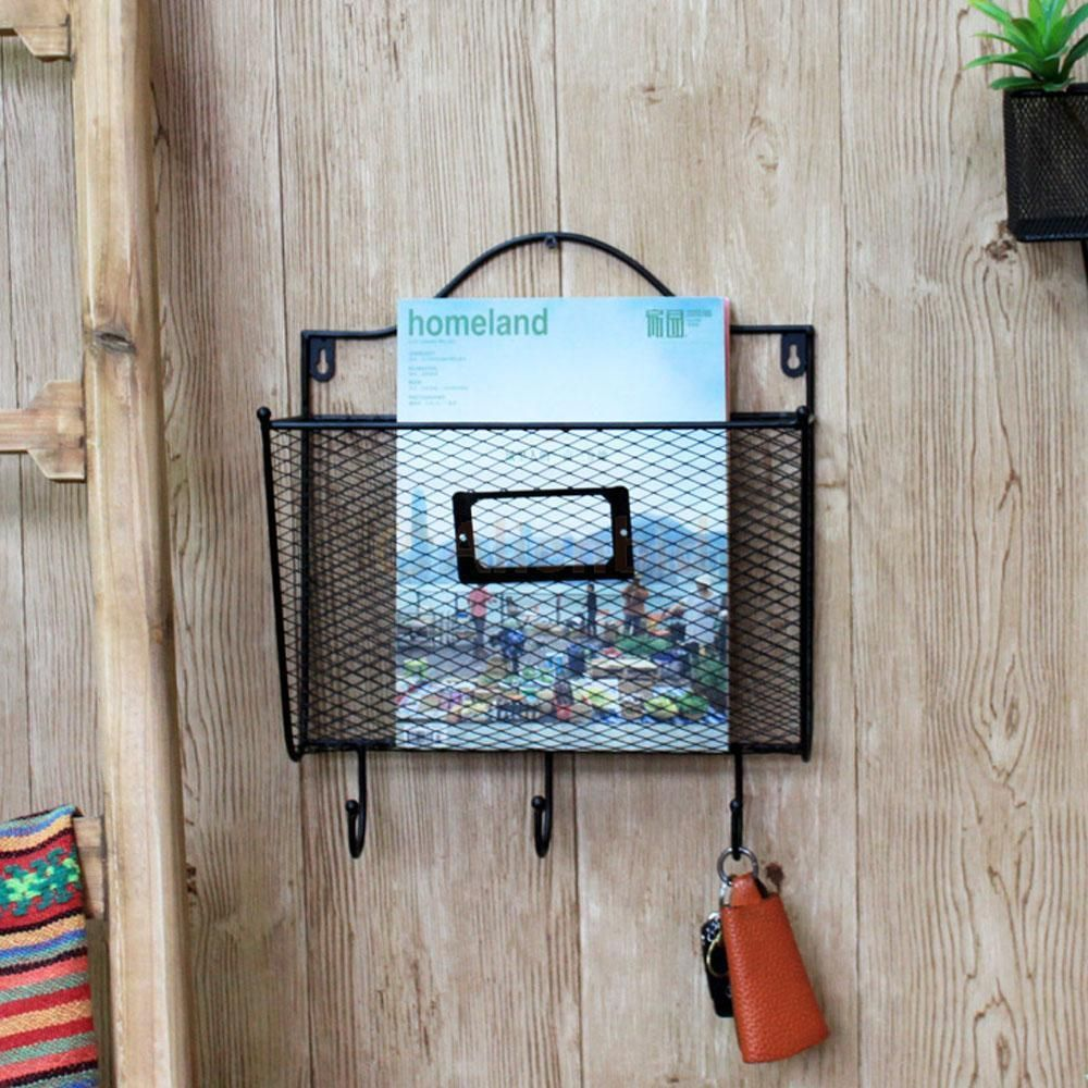 Envelope Style Key Letter Holder Wall Mount Wire Rack Hanger ...