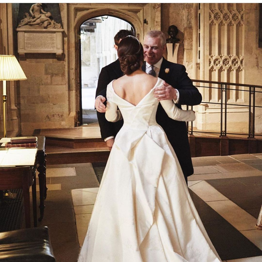 Royally Yourz On Instagram Beautiful Picture Released By Princess Eugenie Showing Her With Her Father On The D Princess Eugenie Royal Brides Eugenie Wedding [ jpg ]