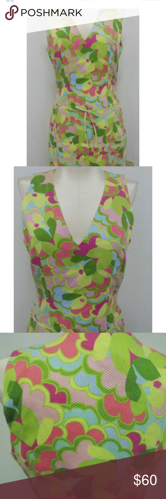 """Sigrid Olsen Bright 60s Era Look Dress NWT Adorable mod look classic dress!  Bright and colorful.  100% cotton, fully lined. Hidden side zipper.  Size 4 new excellent condition with tags. Bust up to 36"""". Waist up to 29"""". Length from shoulder to bottom 37"""" Sigrid Olsen Dresses"""