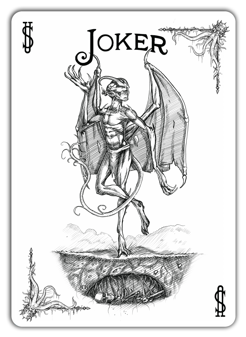 Joker From The Call Of Cthulhu Bicycle Deck Joker Card Joker Card Tattoo Card Art