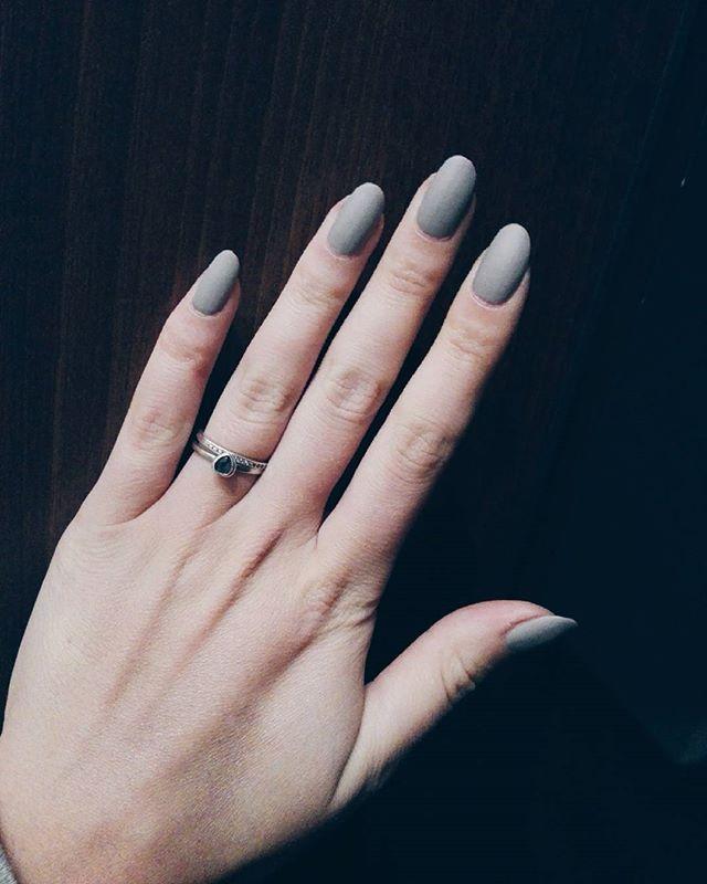 Matt nails! #mattnails #naturalnails #goldenrose #rings #yes #vsco ...