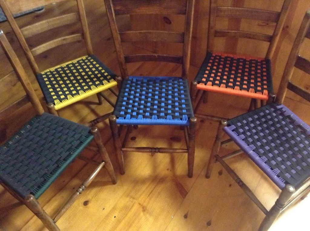 Weave Chair Seats With Paracord Woven Chair Old Wooden