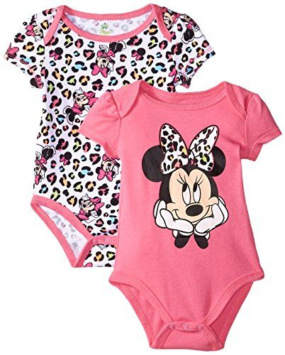 f86c89dc2 Disney Baby Girls Minnie Mouse 2 Pack BodysuitFun Print Pink 36 Months *  Check out the image by visiting the link.