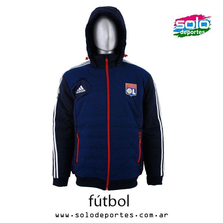 Campera Hoodie Olimpique Lyonnais Francia Marino Blanco Rojo Marca  Adidas  100020W38103001   999 895b44df87420