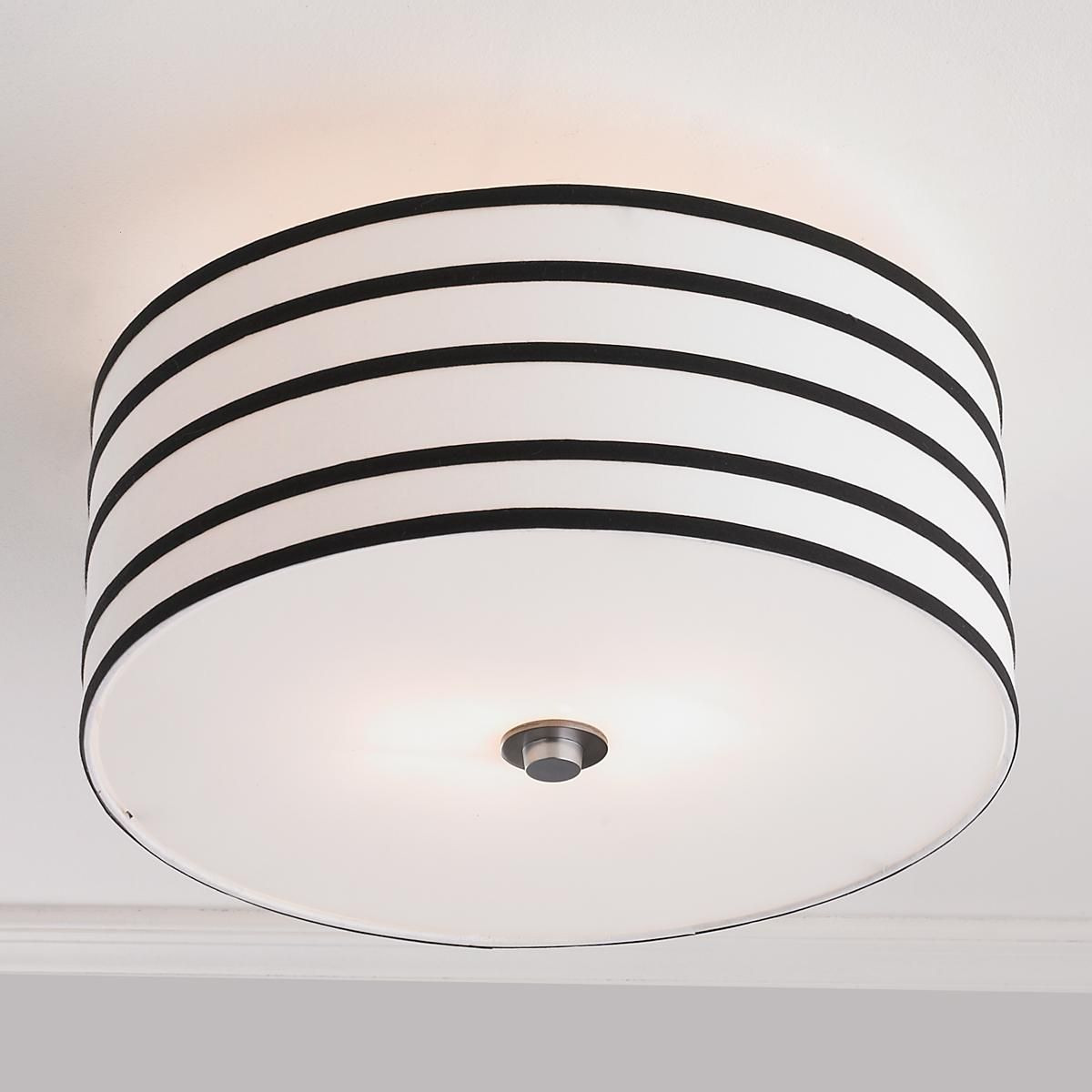 Ceiling Light Canopy Stripe Shade Ceiling Light Black And White Pinterest