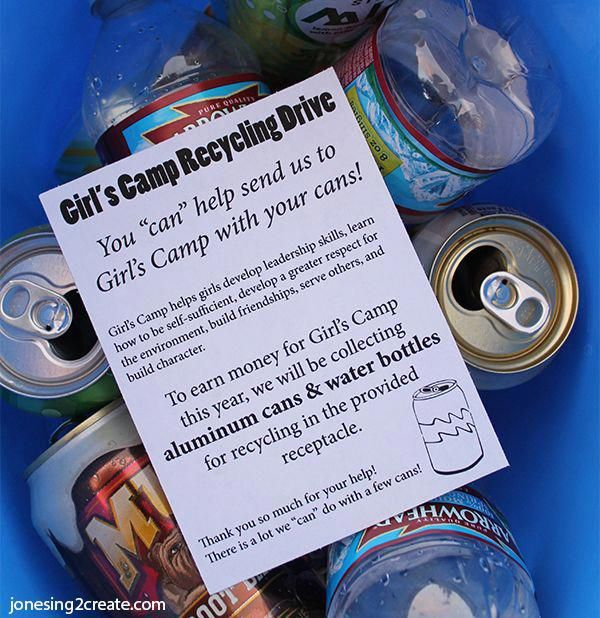 Super Simple Ideas For People Who Hate Yard Work: Girl's Camp Fundraiser Recycling Drive