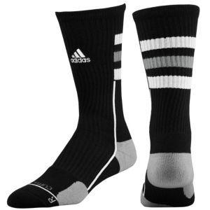 adidas Team Speed Crew Sock - Men s - Basketball - Accessories -  Black Aluminum White Electricity 01c2a8a3c