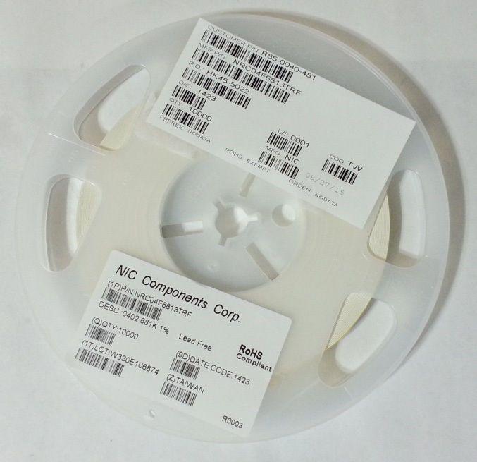 10000pcs Nic Components Corp Resistor 681k Ohm 1 16w 1 0402 Nrc04f6813trf New Ohms Resistors Ebay
