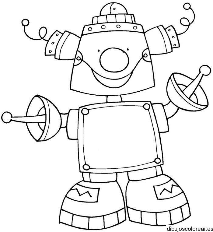 Robots | Dibujos para Colorear | Раскраски, Детские рисунки