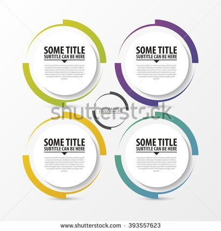 Circle infographic Template for diagram Vector illustration - circle template