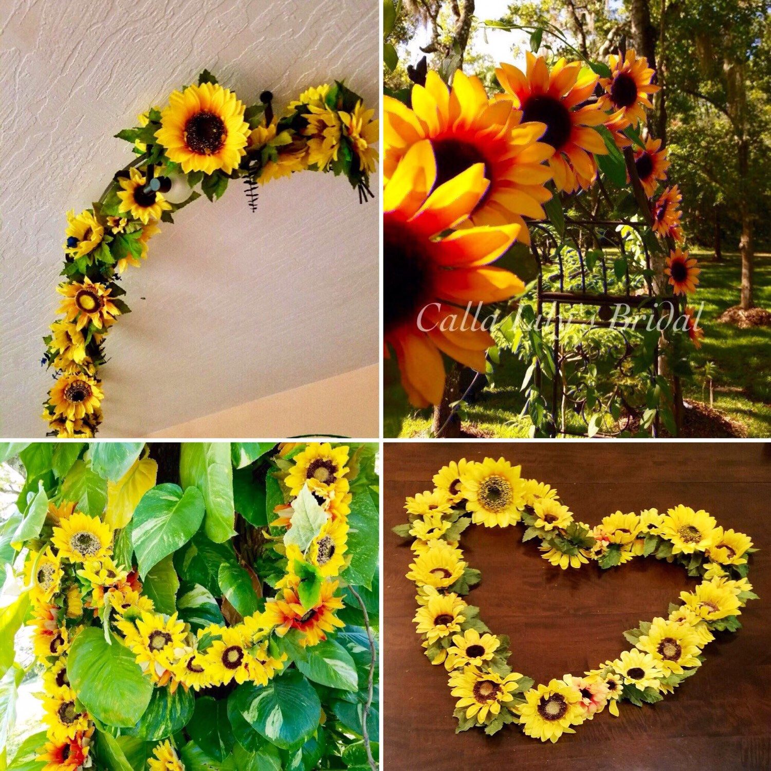 Only one awesome sunflower wedding arch swag left!!!! On