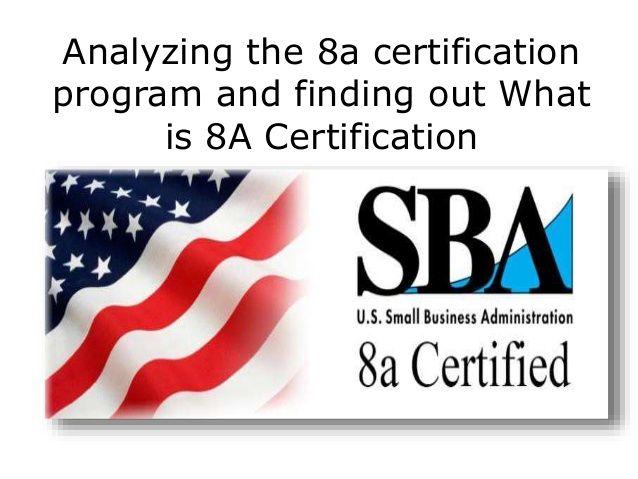 certification program 8a slideshare
