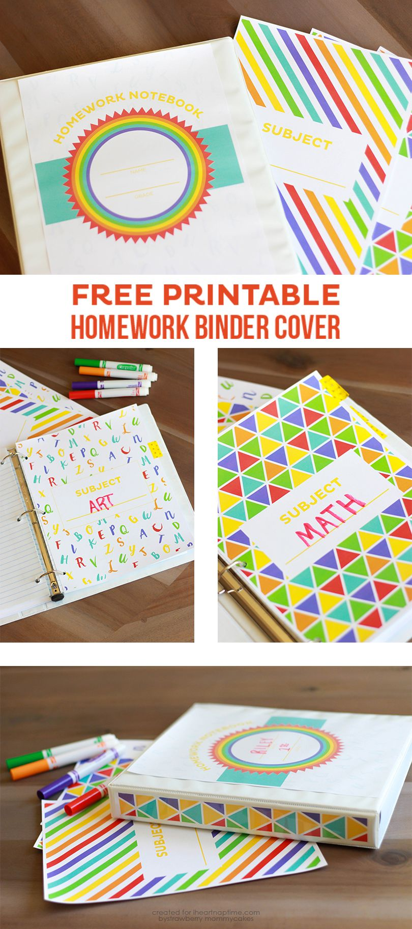 Free Printable Homework Binder Cover The Inspiration Board Homework Binder Binder Covers Binder Covers Free