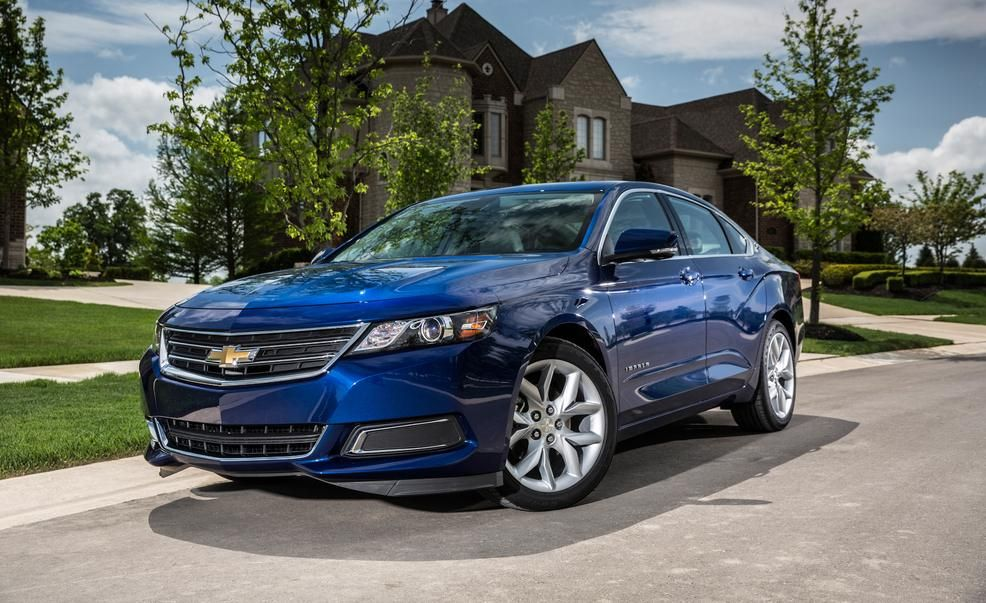 2017 Chevrolet Impala Exterior Blue Color Headlights And Alloy Wheels