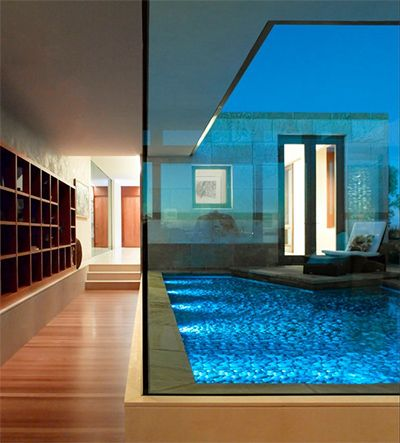 It S A Pool Built Into The Middle Of A House Who Thinks Of