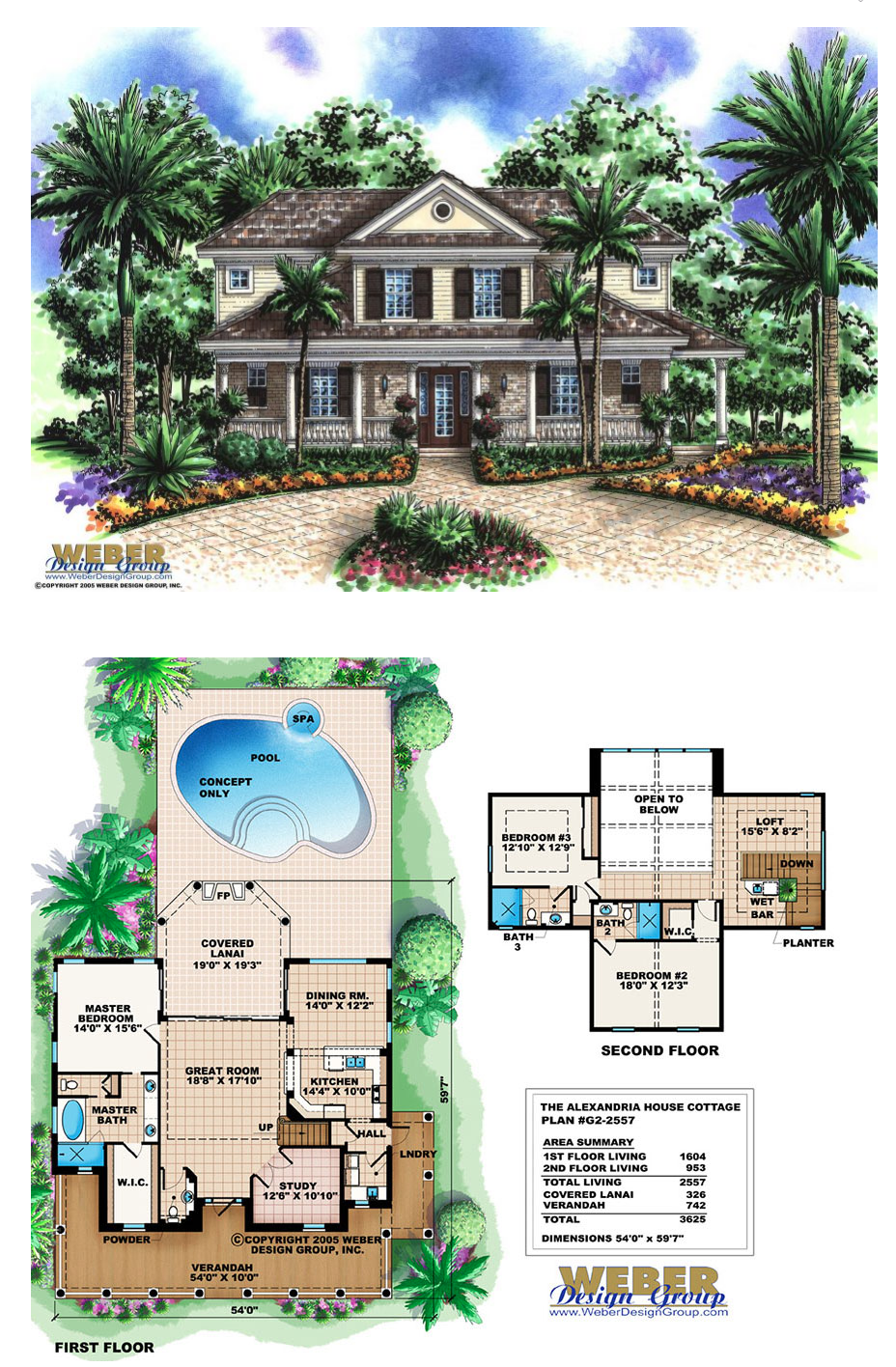 Georgian House Plan, 2 Story Country Cottage, Outdoor