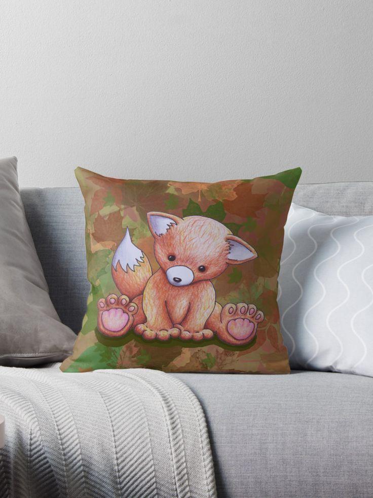 Mr Fox Cuscini.Mr Fox Throw Pillow Throw Pillows Pillows Mr Fox