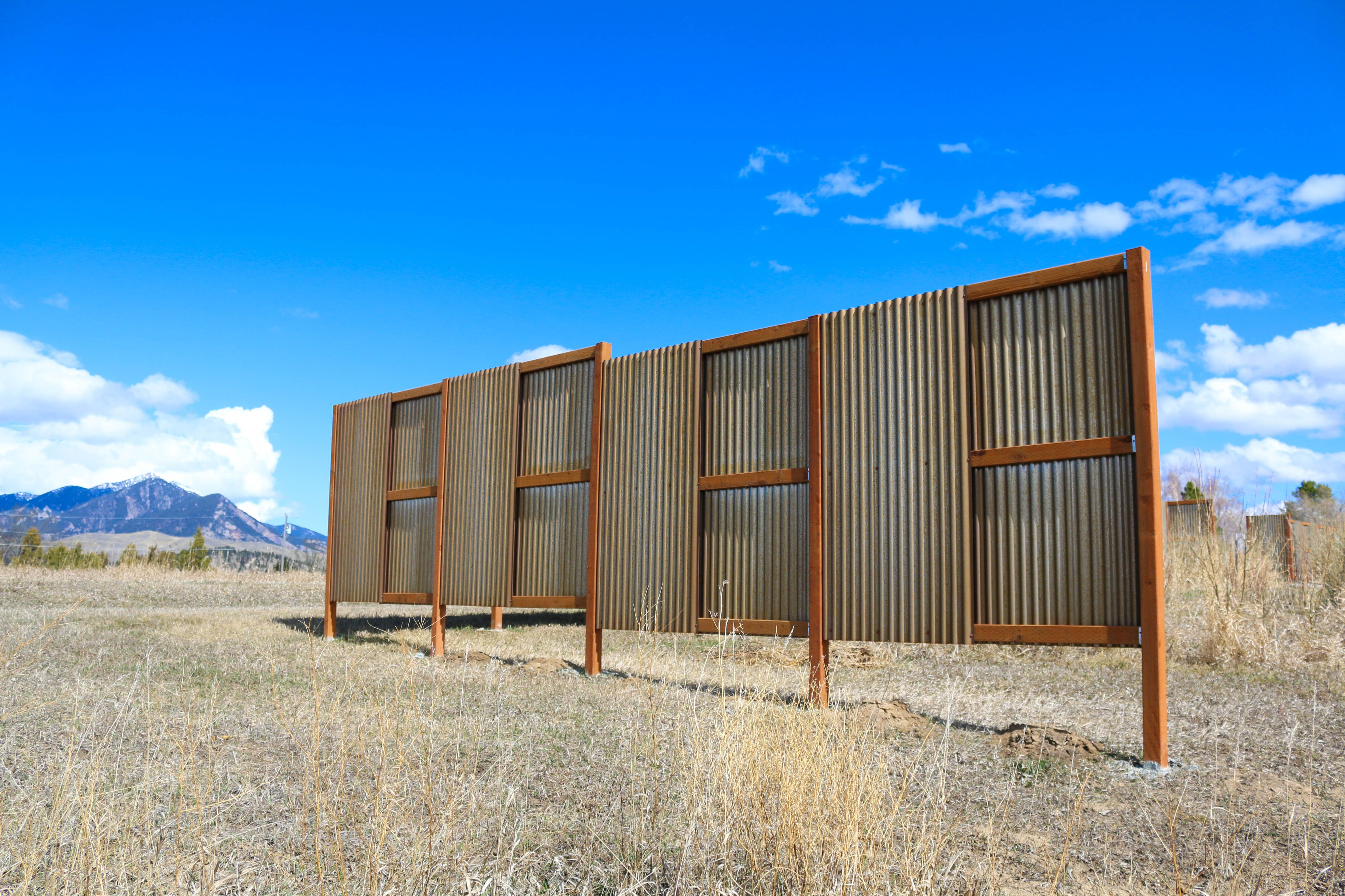 Corrugated Metal Is A Great Choice For Windbreak Or