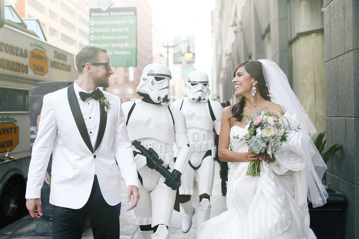This \'Star Wars\' Wedding Is Equal Parts Geek And Chic | Pinterest ...