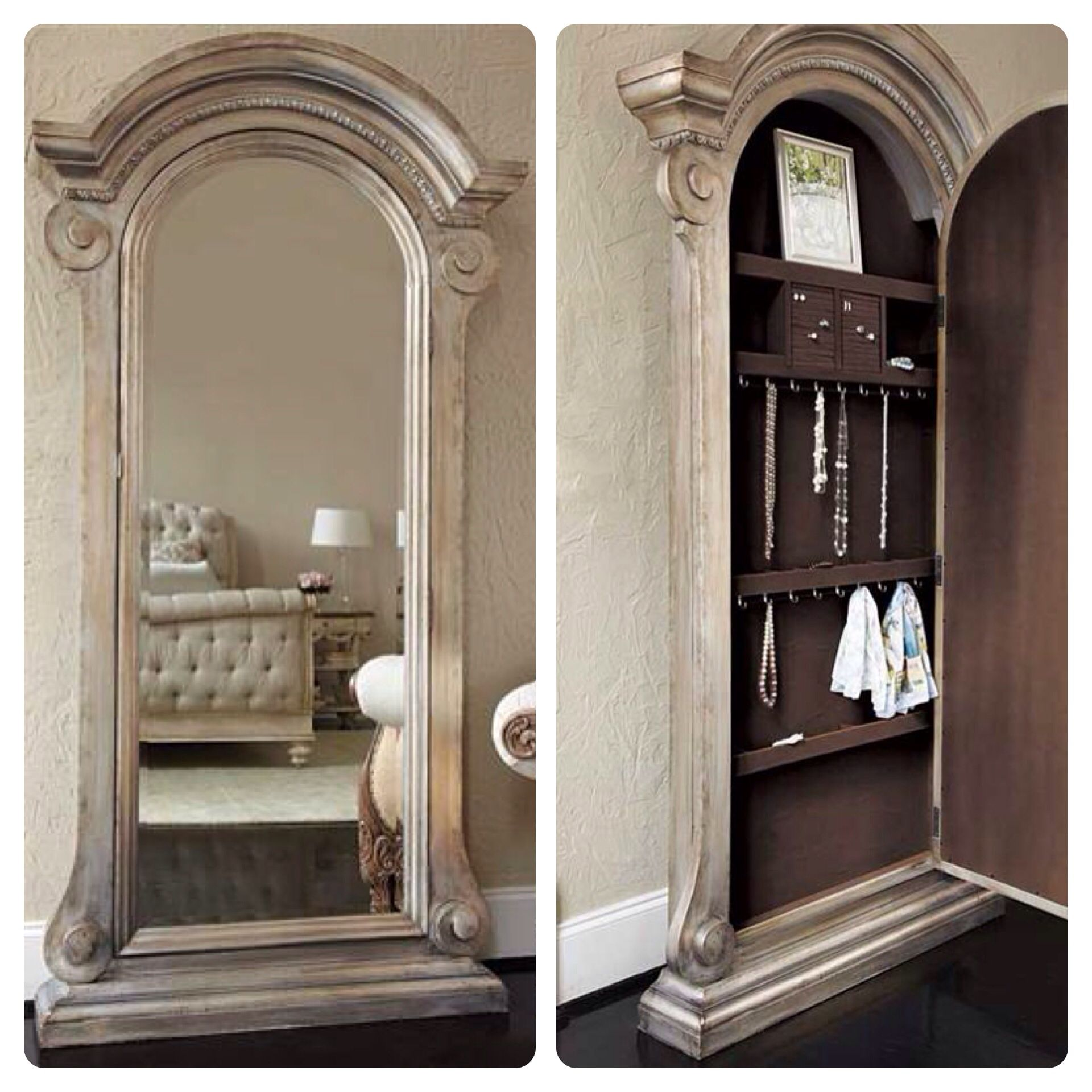JESSICA MCCLINTOCK MIRRORED JEWELRY SAFE $1695. A stately 7-foot ...