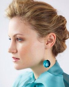 sequin ball earrings by Martha Stewart