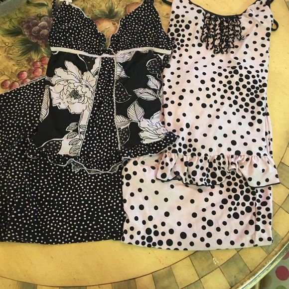 PJ Set Bundle 2 NWOT PJ sets by Studio Donatella. Retail $45 each set. Very very soft and comfy tank and pant pj set! Both are size medium but can fit a large. Adjustable straps and elastic waist. Studio Donatella Intimates & Sleepwear Pajamas