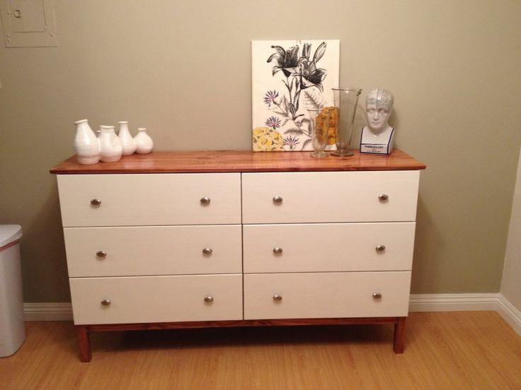 Charming IKEA Tarva Sideboard Hack. :) · Dresser TopDresser IdeasDresser Makeovers6  Drawer ...