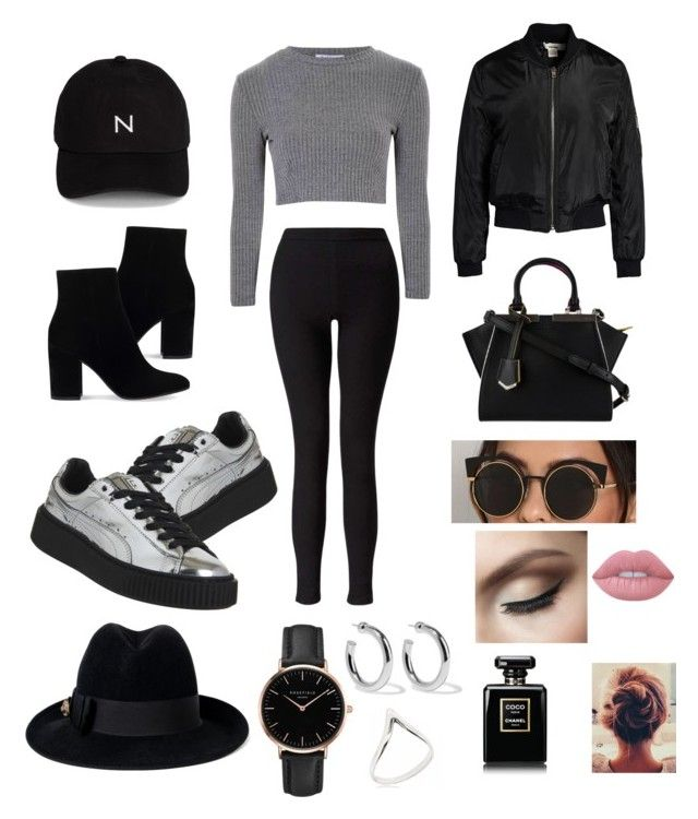 """Untitled #31"" by buki2000 ❤ liked on Polyvore featuring Gianvito Rossi, Glamorous, New Black, Sans Souci, Miss Selfridge, Puma, Fendi, Gucci, Topshop and Sophie Buhai"