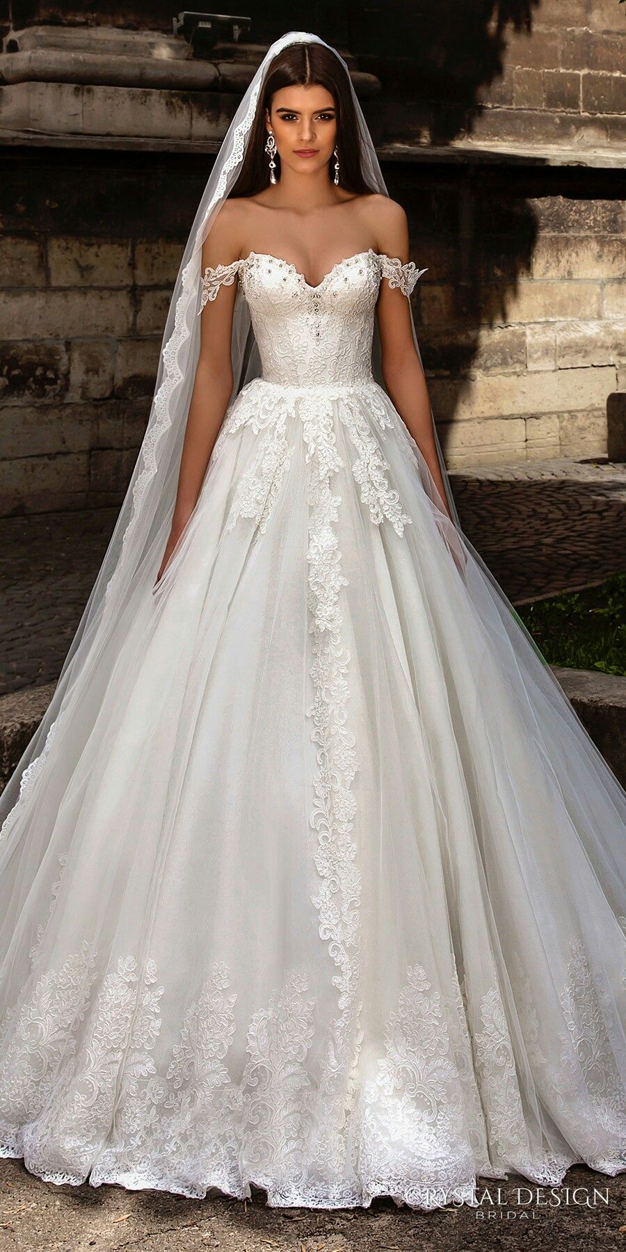 Cathedral wedding dress  Crystal Design  Collection  wedding  Pinterest  Crystals