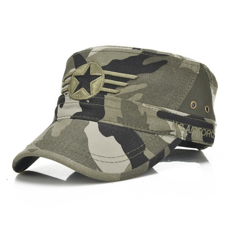 Men Washing Distressed Military Army Cap Cadet Military Hat Truckers Adjustable